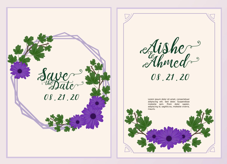 https fr vecteezy com art vectoriel 1213700 modele carte invitation de mariage avec de belles fleurs et feuilles