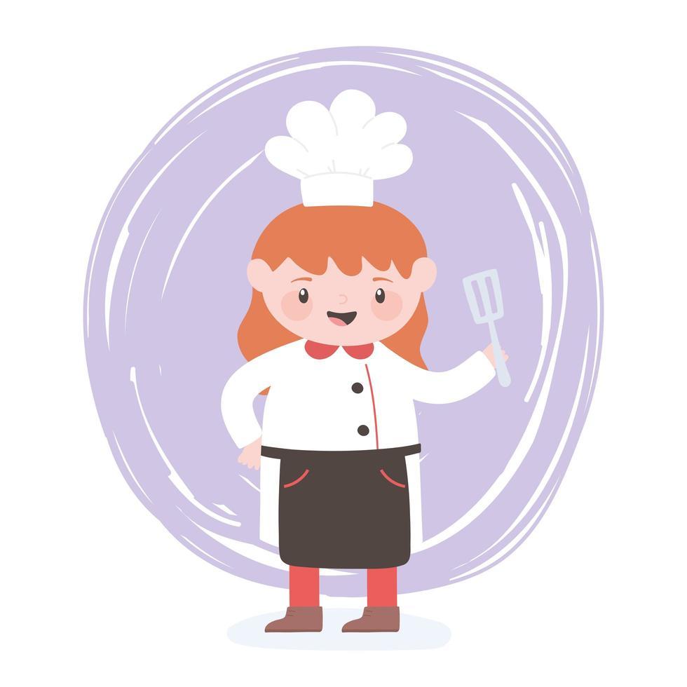 https fr vecteezy com art vectoriel 1825824 femme chef personnage de dessin anime avec spatule ustensile cuisine