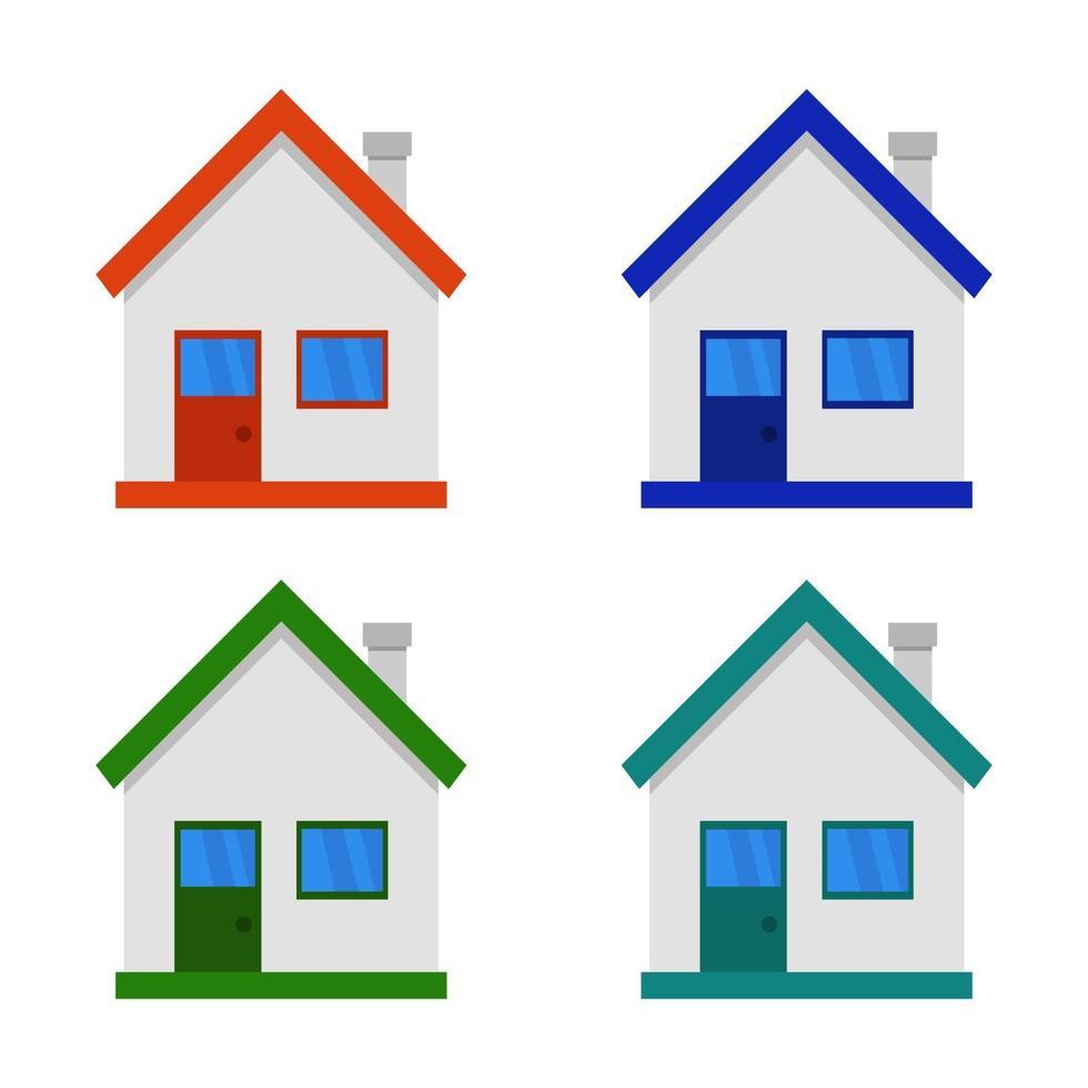 https fr vecteezy com art vectoriel 2039979 ensemble de maison sur fond blanc