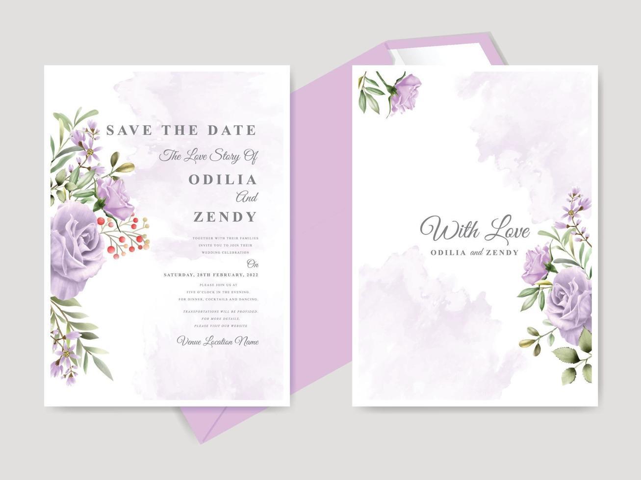 https fr vecteezy com art vectoriel 2133858 beau floral dessine a la main mariage enregistrer la date modele de carte invitation