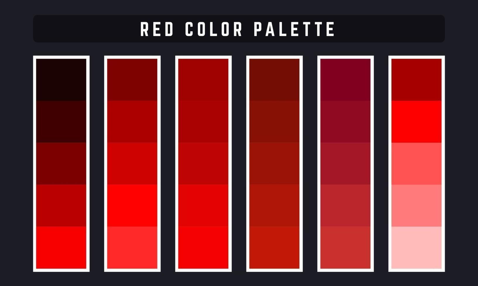 Palette De Couleurs De Vecteur Rouge 2292883 Telecharger Vectoriel Gratuit Clipart Graphique Vecteur Dessins Et Pictogramme Gratuit