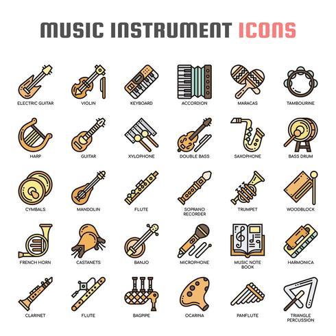 https fr vecteezy com art vectoriel 685318 instruments de musique thin line icons de couleur