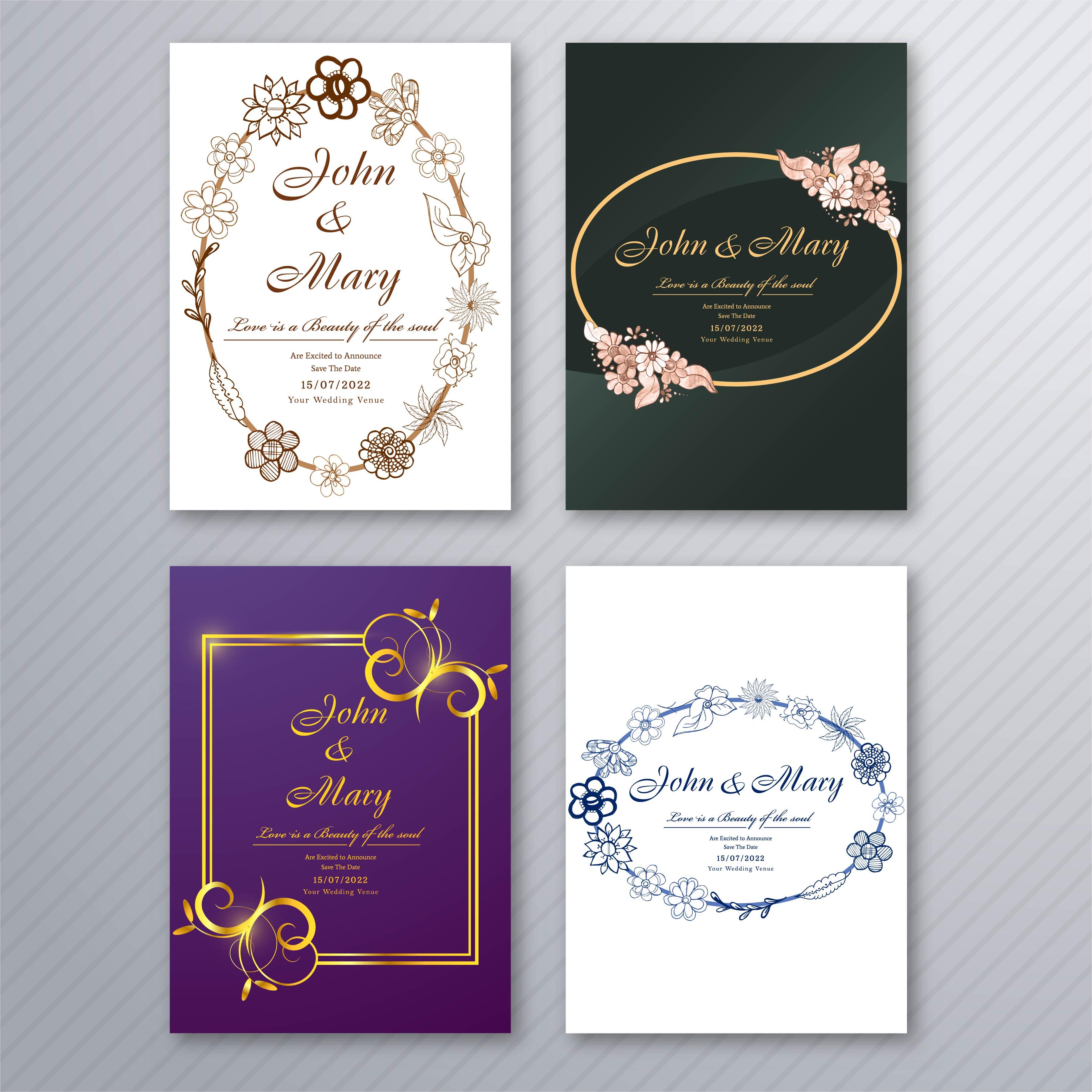modele de carte d invitation de mariage