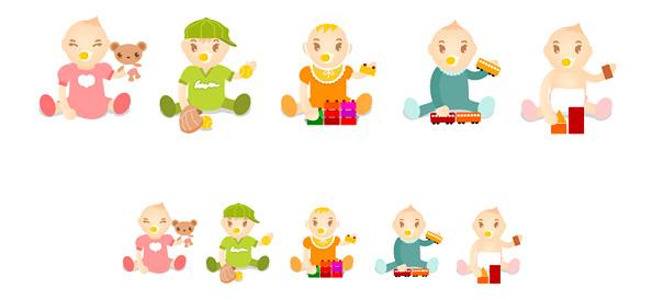 5 Baby Vector Characters