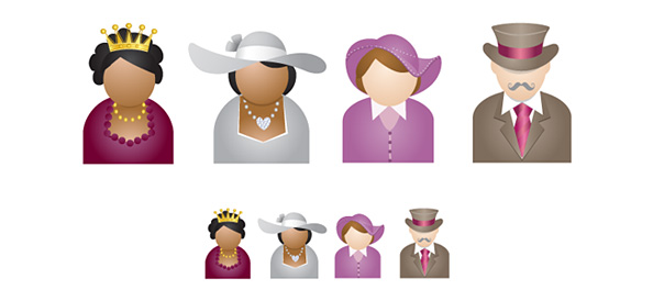 People Vector Illustrations suitable for Avatars