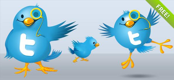 Twitter Bird Illustrations