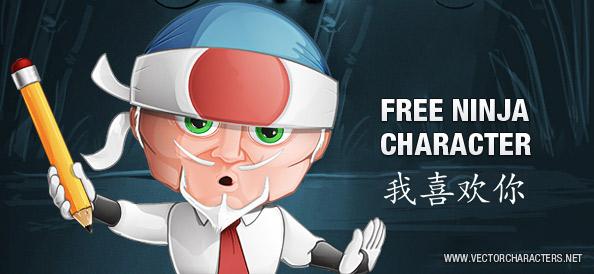 Ninja Master Vector Character