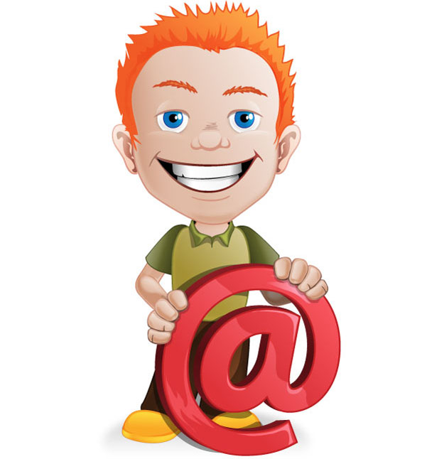 Male Vector Character with Email Symbol Preview Big
