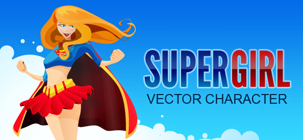 Superhero Girl Vector Character