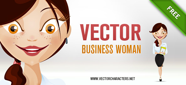 Vector Woman Business Character