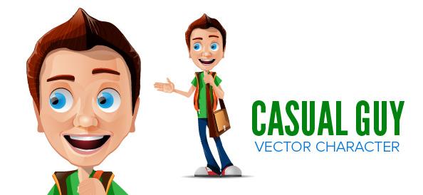 Free Man Vector Character