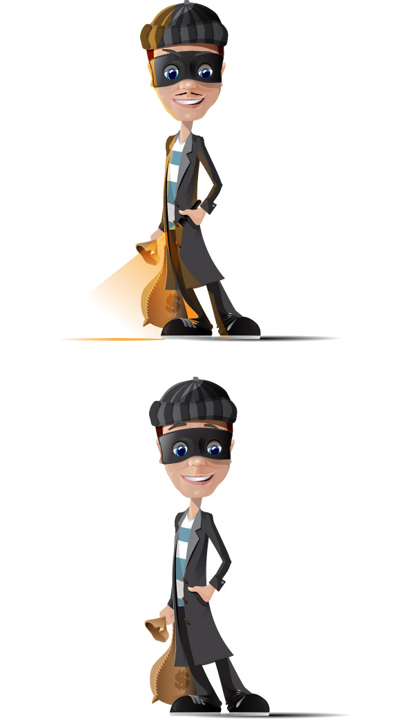 Thief Vector Characters Preview