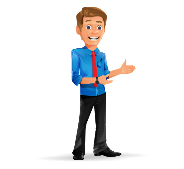 Charming Businessman Vector Character Preview