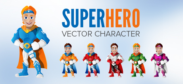 Vector Hero Cartoon Character