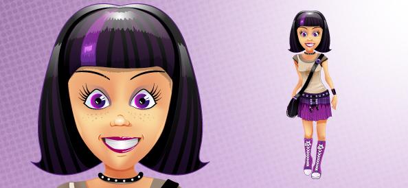 Stylish Girl Vector Character