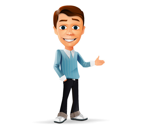 Welcome Businessman Vector Character Preview