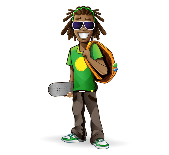Rastaman Vector Character Preview