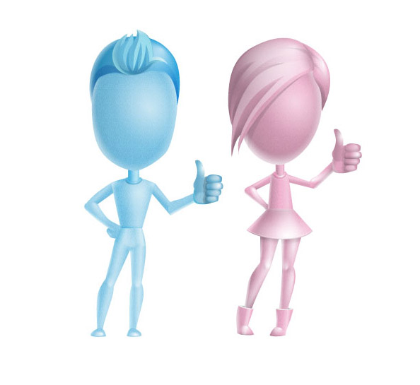 3D People Thumbs up Preview