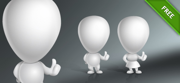 Cute 3D Couple Vector Characters