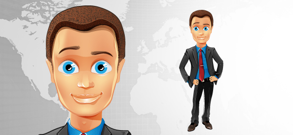 Fashionable Business Guy Vector Character