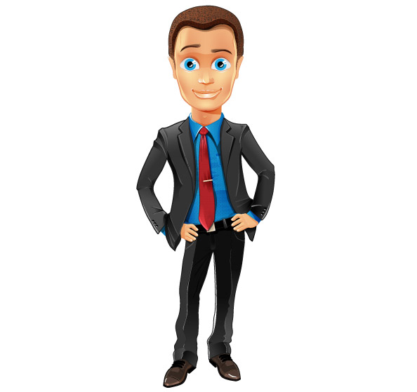Fashionable Business Guy Vector Character Preview