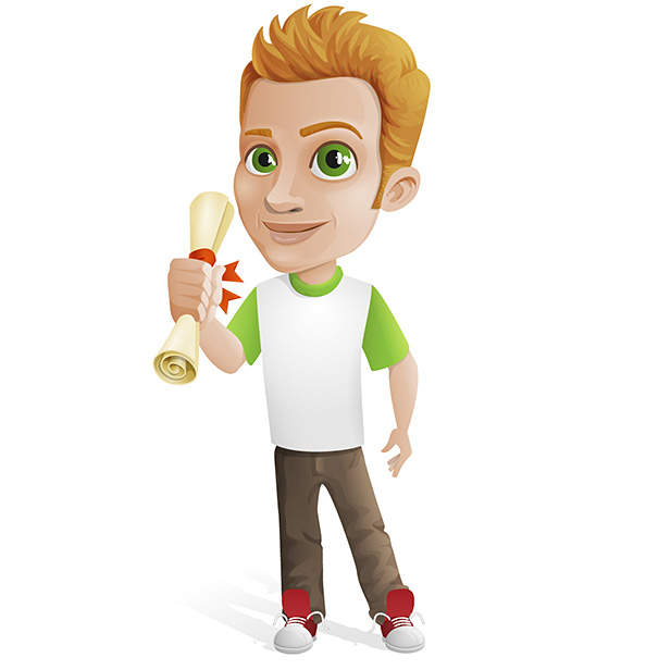 Casual Guy Vector Character