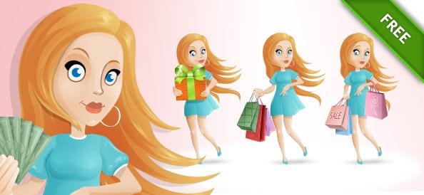 Shopping Girl Set