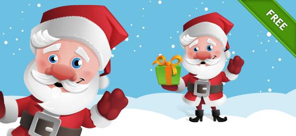 Free Santa Claus Vector Character