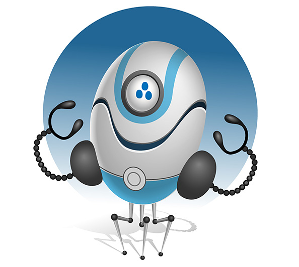 Funny Robot Vector Character Preview