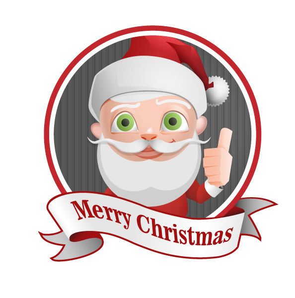 Santa Claus Vector Character with Thumbs Up Preview