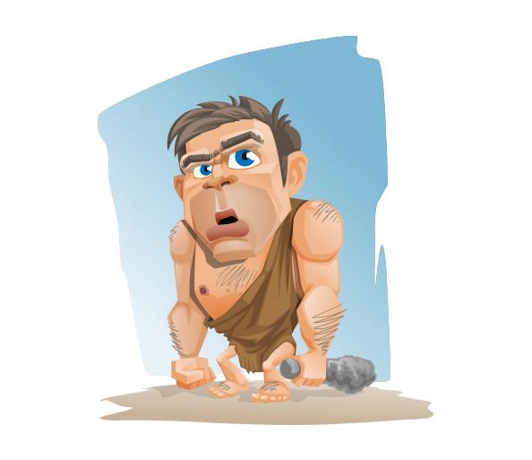 Caveman Vector Character