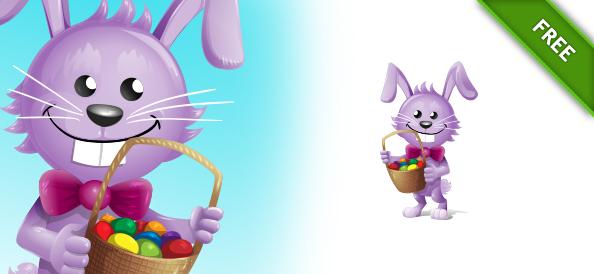 Easter Vector Rabbit Character