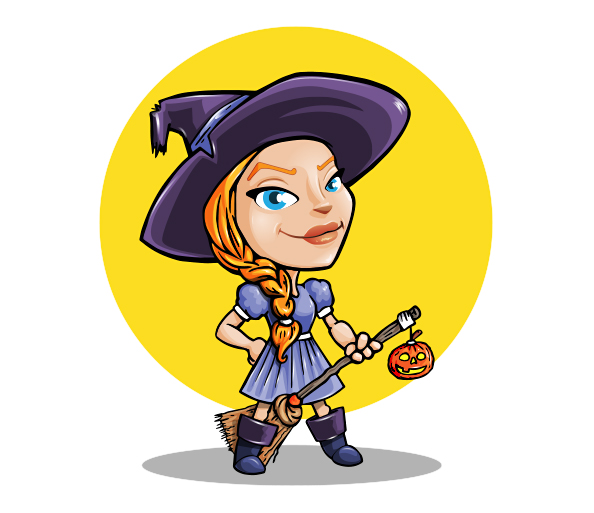 Halloween Girl Vector Character