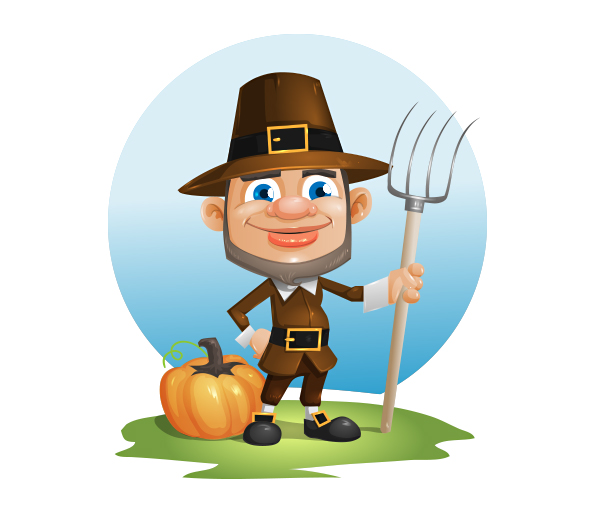 Thanksgiving Day Vector Character