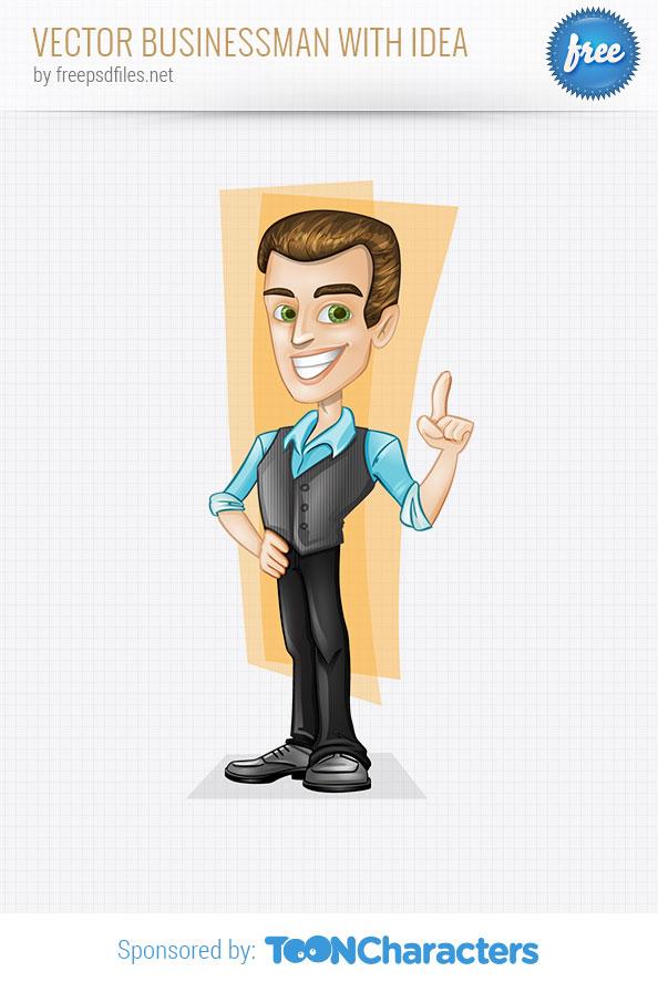 Vector Businessman with Idea