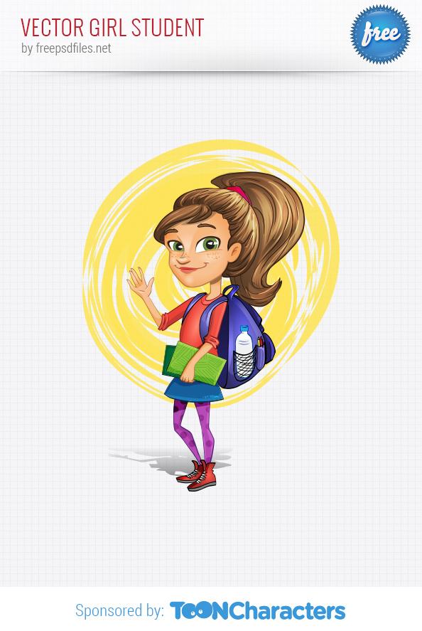Vector Girl Student