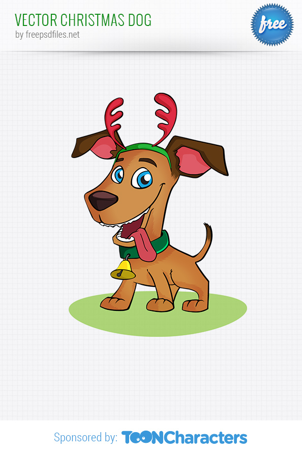 Vector Christmas Dog