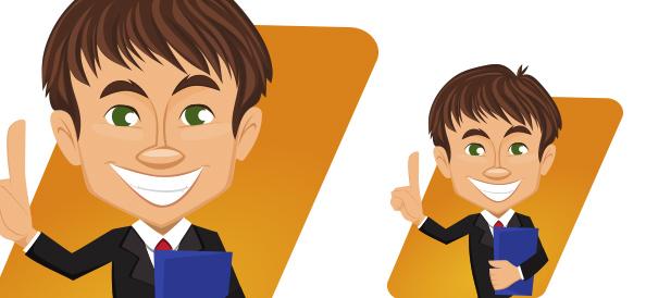 Vector Businessman with Folder