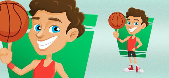 Basketball Player Vector Character