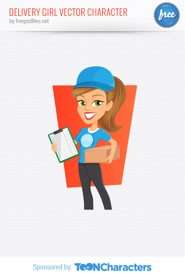 Delivery Girl Vector Character