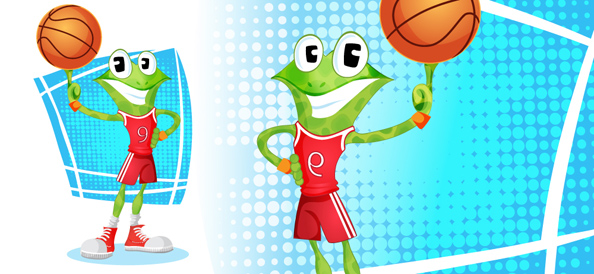 Vector Frog Basketballer