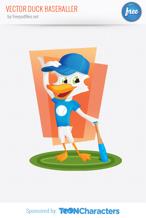 Vector Duck Baseballer
