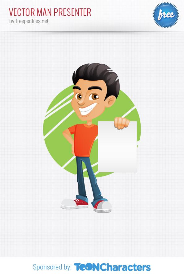 Vector Presentation Man Character