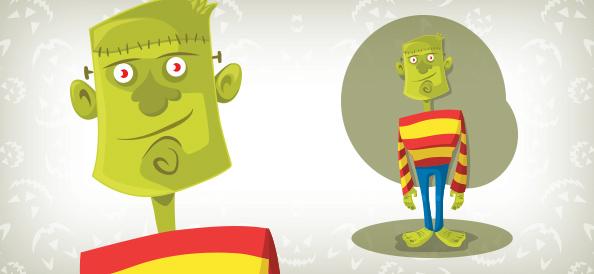 Vector Halloween Frankenstein Monster