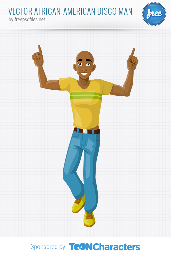 Vector African-American Disco Man