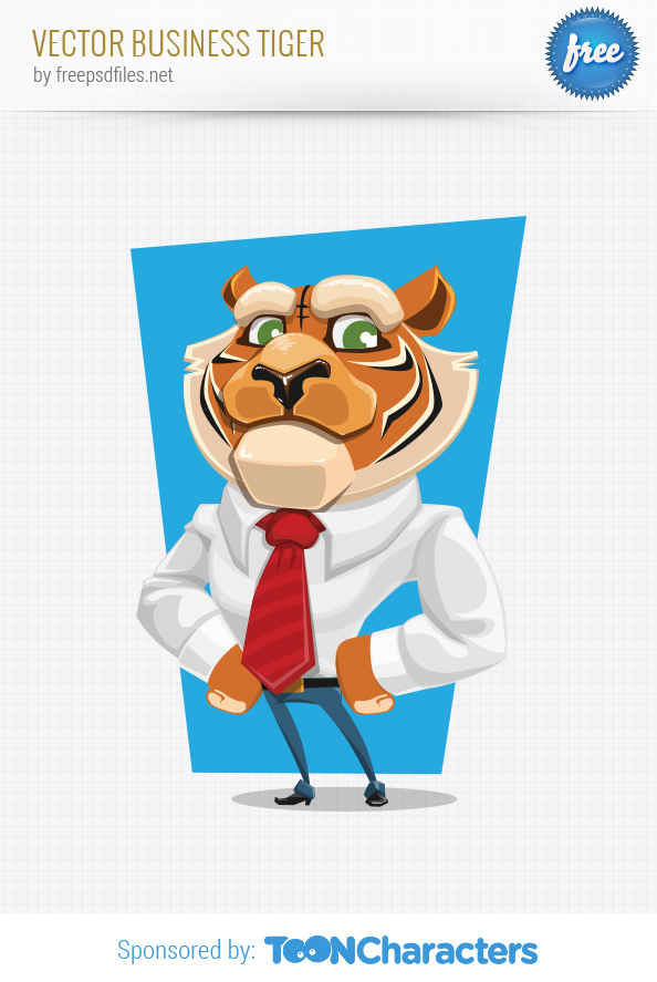 Vector business tiger