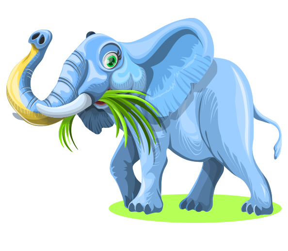 Free Vector Elephant Character