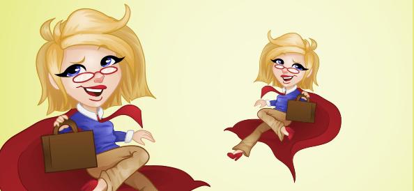 Vector Superhero Woman