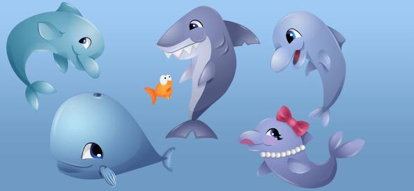 Vector Fish Characters