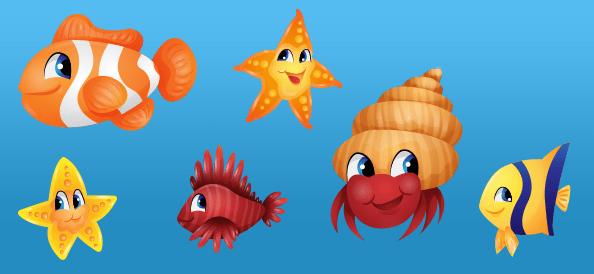Vector Sea Characters